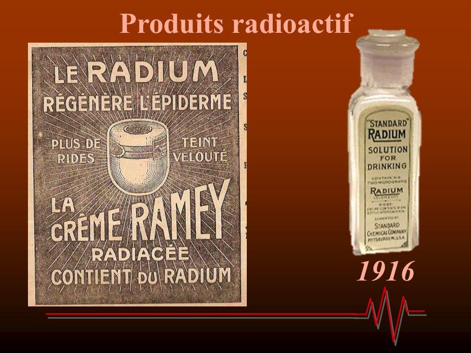 1916 Produits radioactif