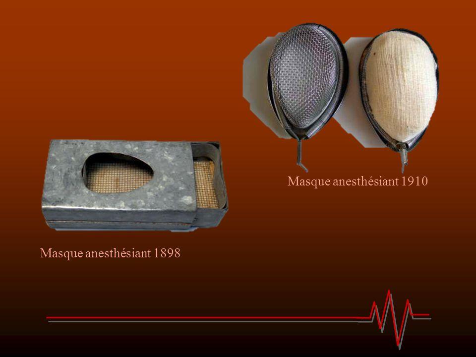 Masque anesthésiant 1898 Masque anesthésiant 1910