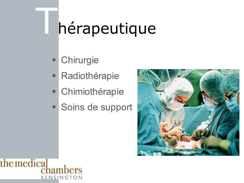 Chirurgie Radiothérapie Chimiothérapie Soins de support T hérapeutique