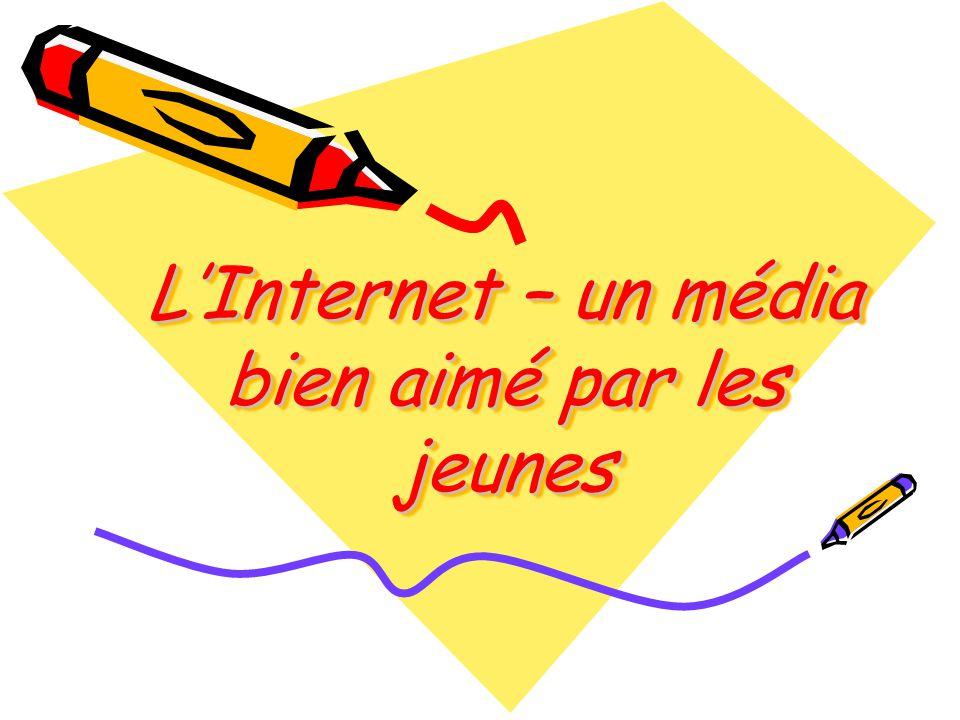 Projet réalisé par la 4 groupe: ième C h i t L i v i a F a r c a ş M i h a e l a M o r a r A n d r e e a P r o d a n R a l u c a Classe: XI MI L Internet – un média bien aimé par les jeunes Thème: L Internet – un média bien aimé par les jeunes G r o u p e S c o l a i r e L i v i u R e b r e a n u H i d a P r o f e s s e u r : A r d e l e a n D a n i e l a