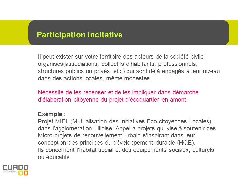 Depuis 2 ou 3 ans des démarches dHabitat participatif se redéveloppe via des groupes citoyens qui se rencontrent autour de ce concept « revisité ».