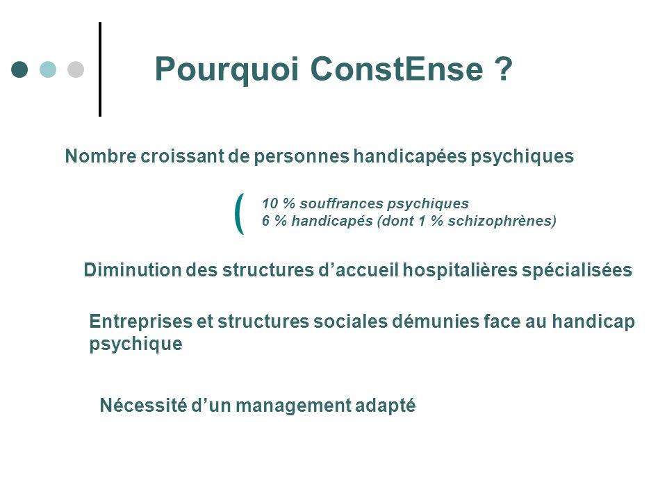 Nombre croissant de personnes handicapées psychiques Diminution des structures daccueil hospitalières spécialisées Entreprises et structures sociales