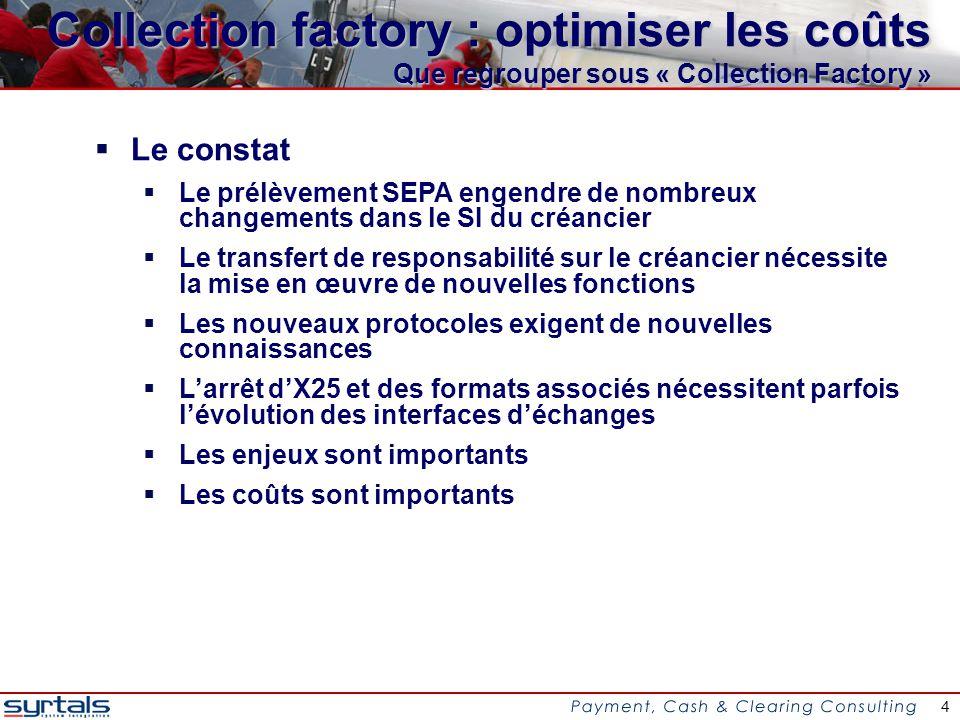 15 Collection factory : optimiser les coûts Conclusion : où sont les optimisations .