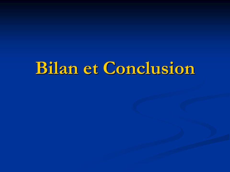Bilan et Conclusion
