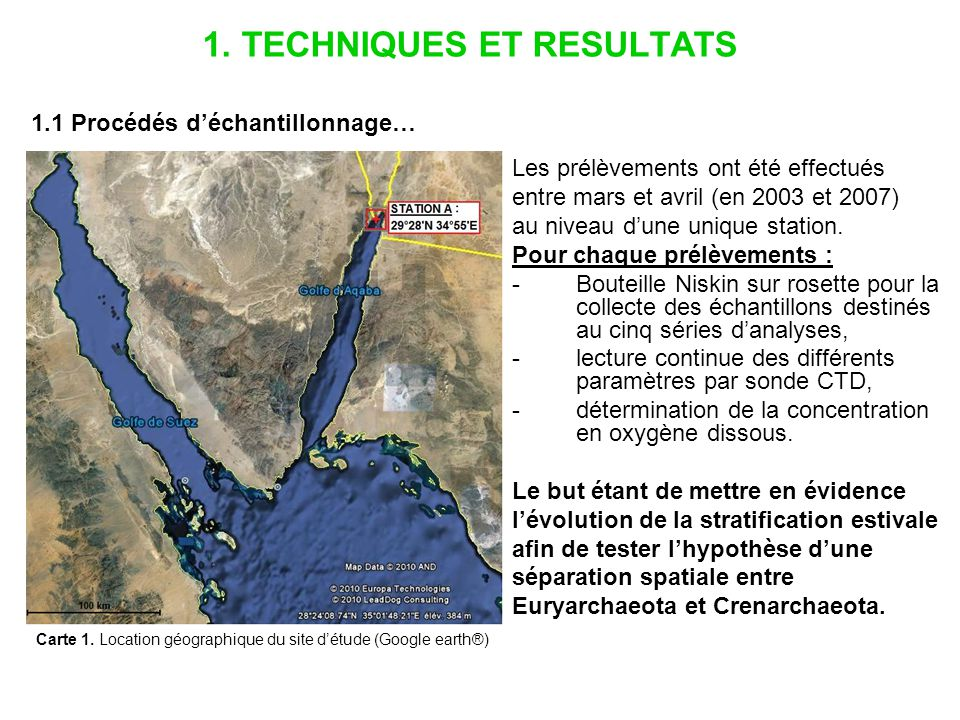 … et propriétés hydrographiques (cas des expériences de CARD FISH) - Mars 2007 : colonne deau mélangée, pas de thermocline.