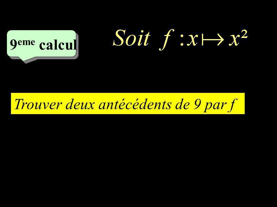 8 eme calcul Trouver limage de 2 par f
