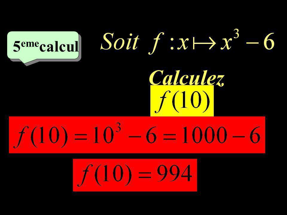 –1–1 4 ème 4 ème calcul f(x) = (x-3)(x+3) Calculez
