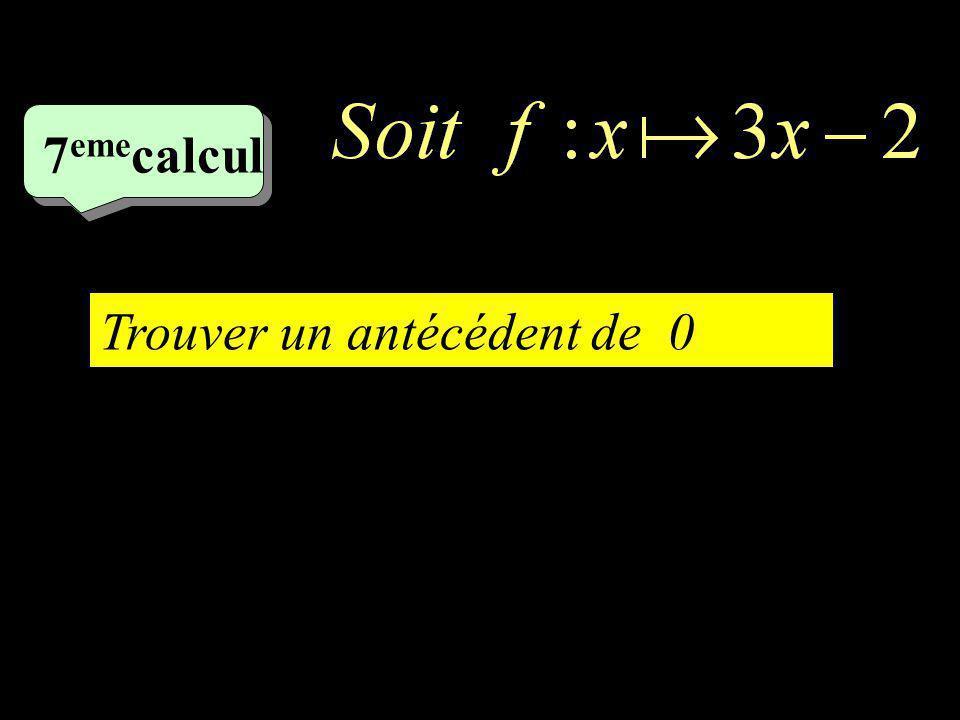 6 ème 6 ème calcul Trouver limage de -4 par f