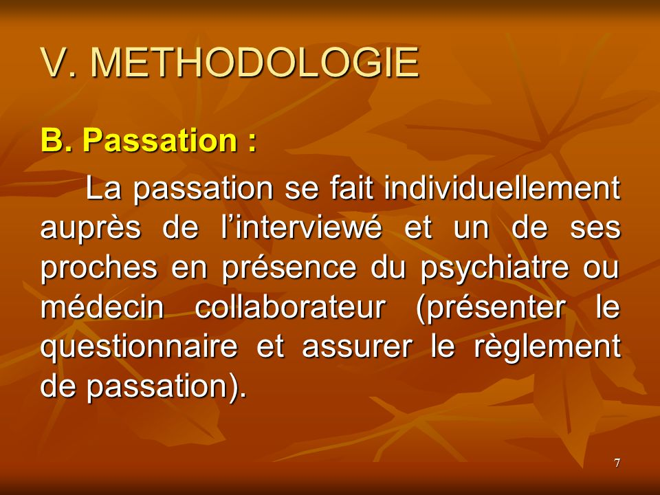 8 V.METHODOLOGIE C.