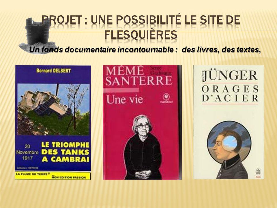 Un fonds documentaire incontournable : des livres, des textes,