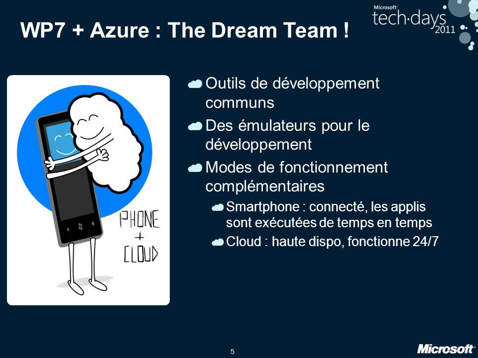 5 WP7 + Azure : The Dream Team .