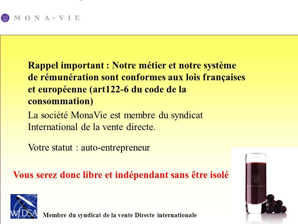 Rappel important : Notre métier et notre système de rémunération sont conformes aux lois françaises et européenne (art122-6 du code de la consommation