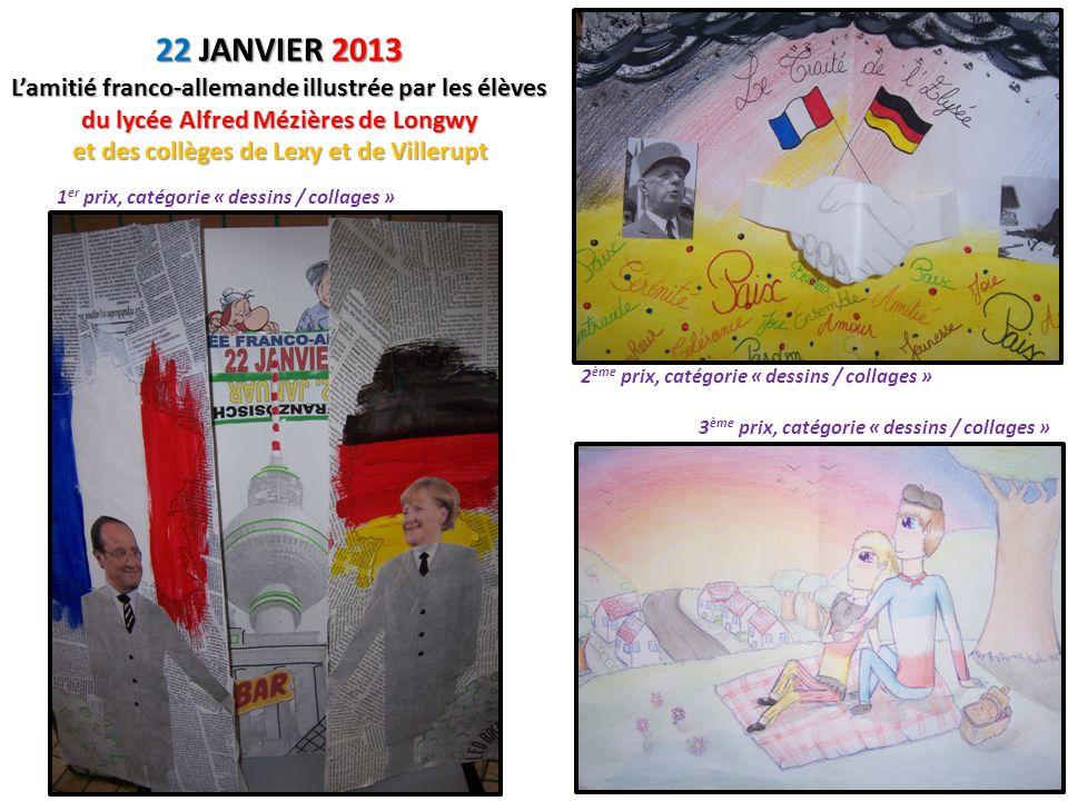 1 er et 2 ème prix, catégorie « autres » 4èmes prix ex-aequo, catégorie « dessins / collages » MERCI ET BRAVO À TOUS LES PARTICIPANTS.