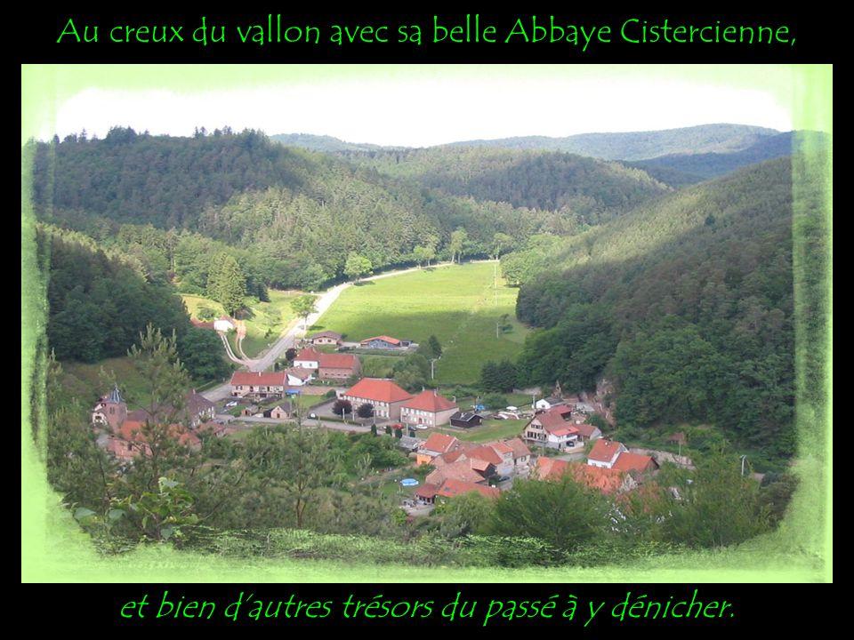 Au creux du vallon avec sa belle Abbaye Cistercienne, et bien dautres trésors du passé à y dénicher.