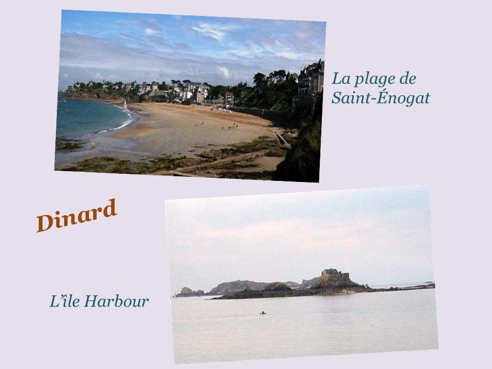Dinard La plage de lécluse et les tentes