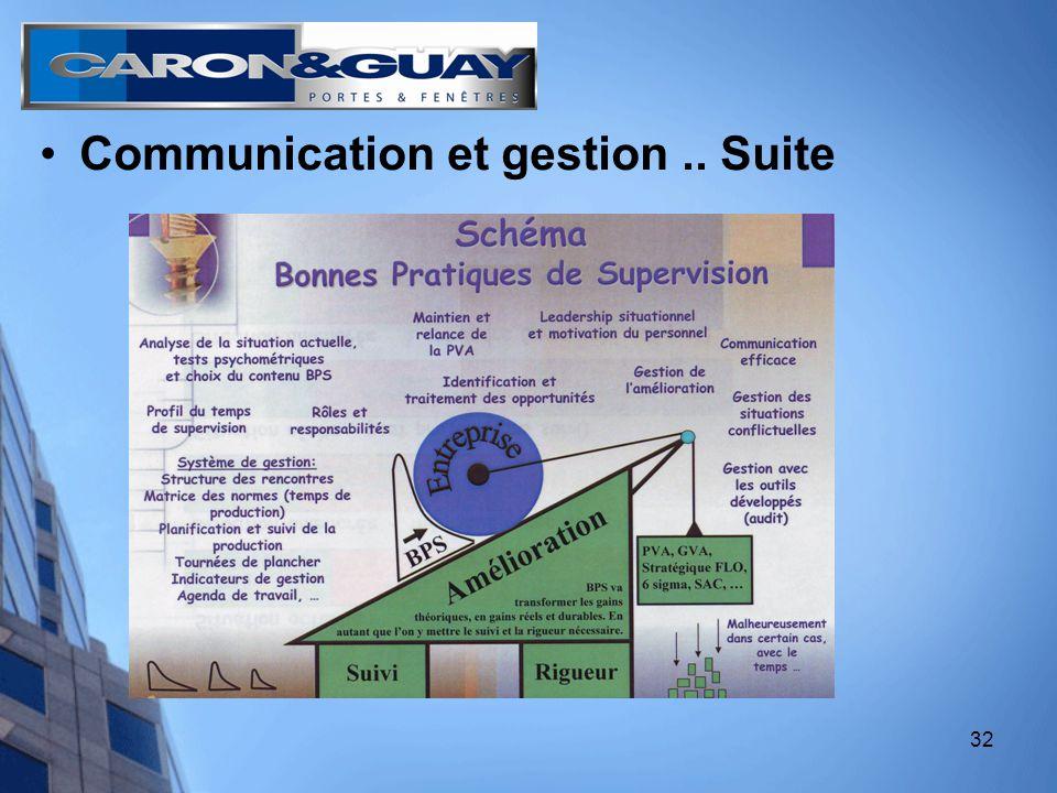 32 Communication et gestion.. Suite