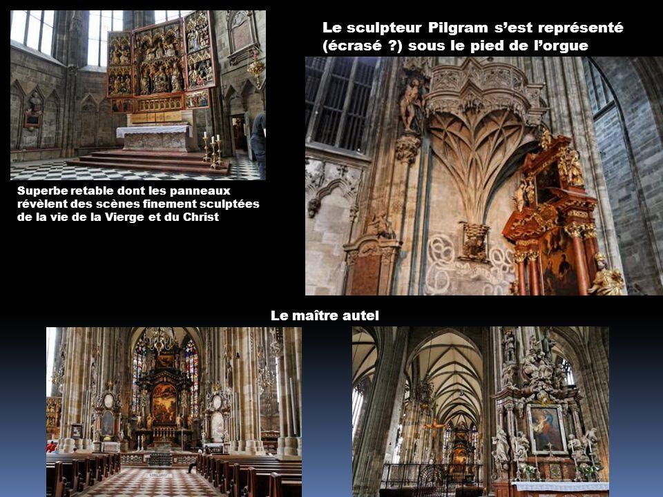 Les mauvaises pensées (crapauds) fuient devant les bonnes pensées (salamandres) La cathédrale Saint Etienne La chaire de Pilgram En ligne de mire la tribune de lorgue