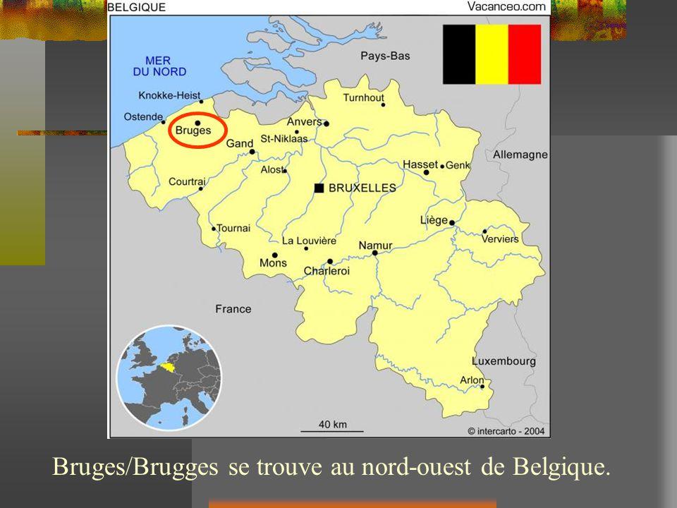 Bruges/Brugges se trouve au nord-ouest de Belgique.