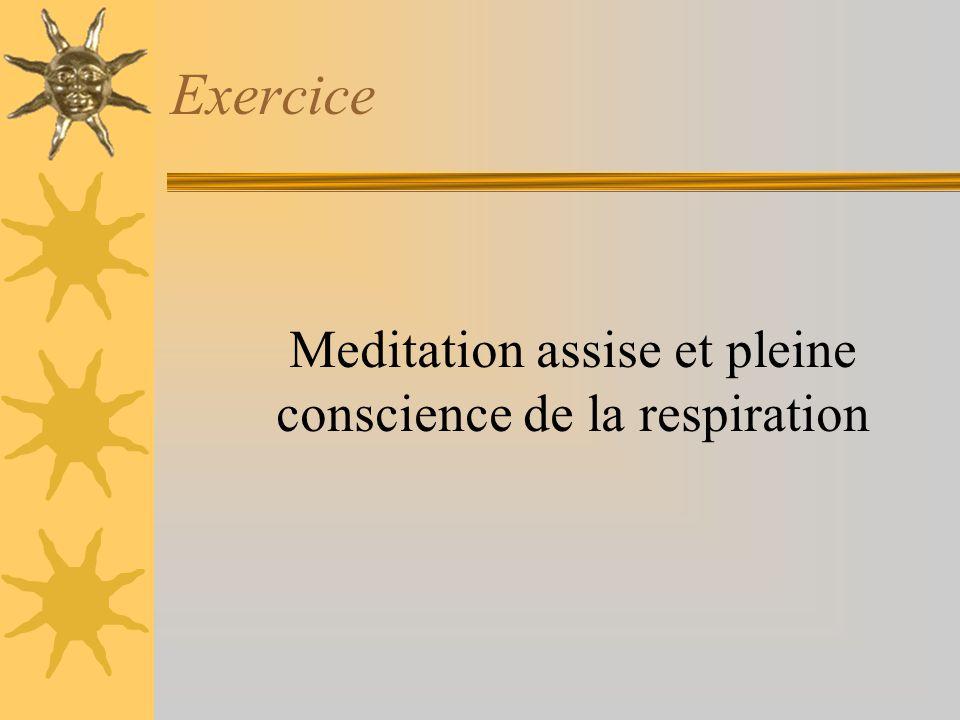 Exercice Meditation assise et pleine conscience de la respiration
