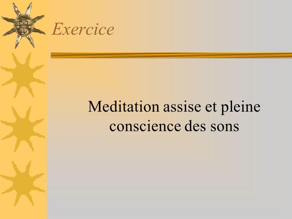 Exercice Meditation assise et pleine conscience des sons