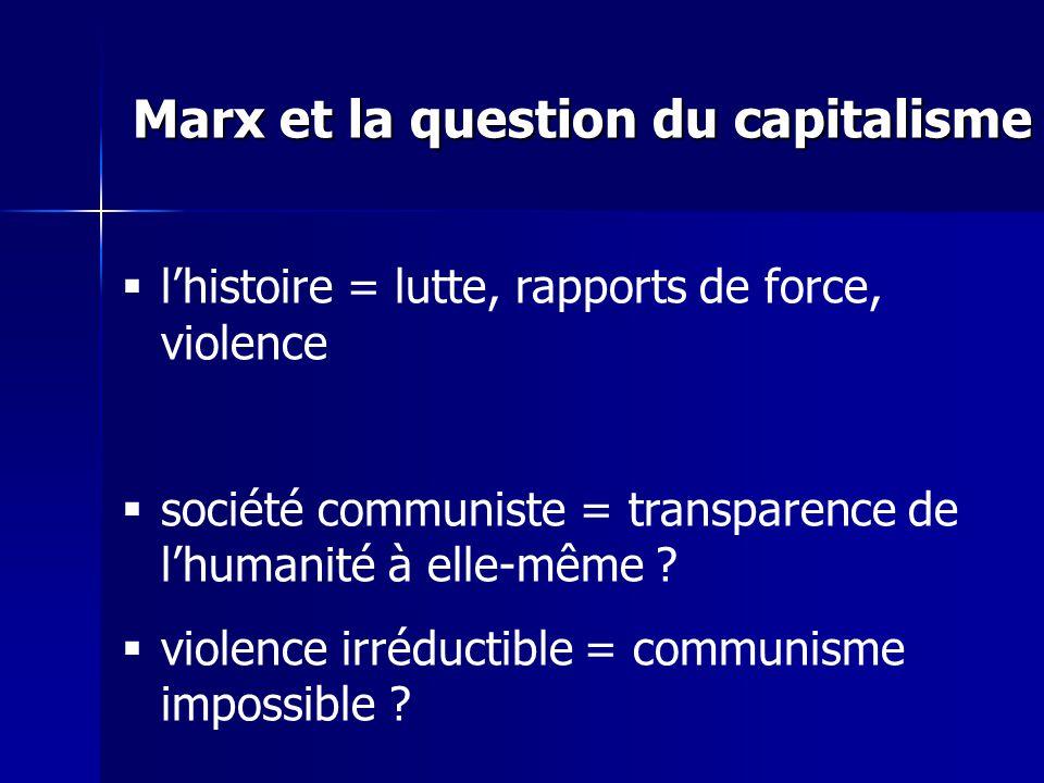 lhistoire = lutte, rapports de force, violence société communiste = transparence de lhumanité à elle-même .