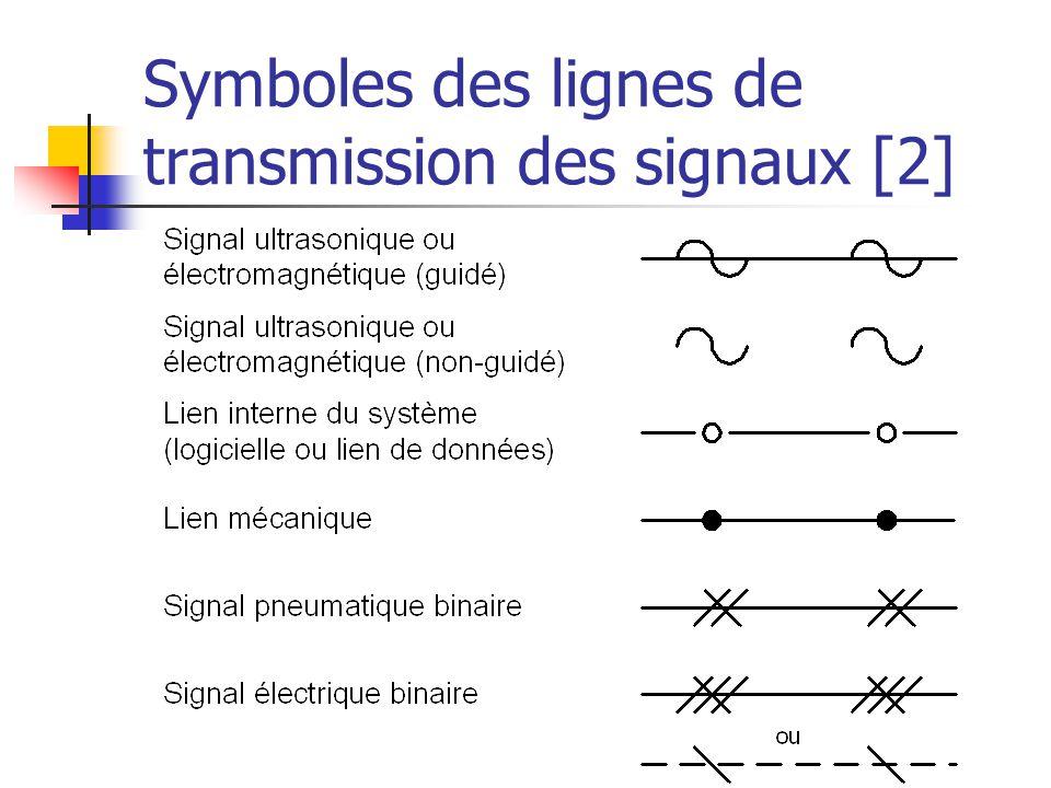 Symboles des lignes de transmission des signaux [2]