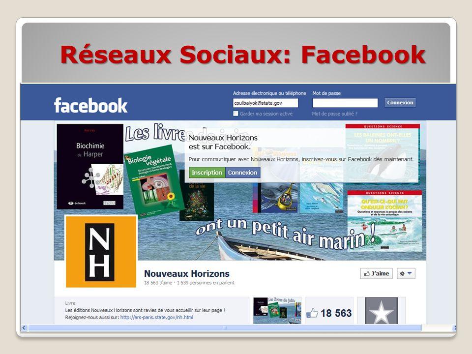 Réseaux Sociaux: Facebook