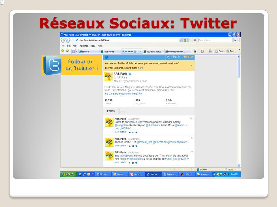 Réseaux Sociaux: Twitter