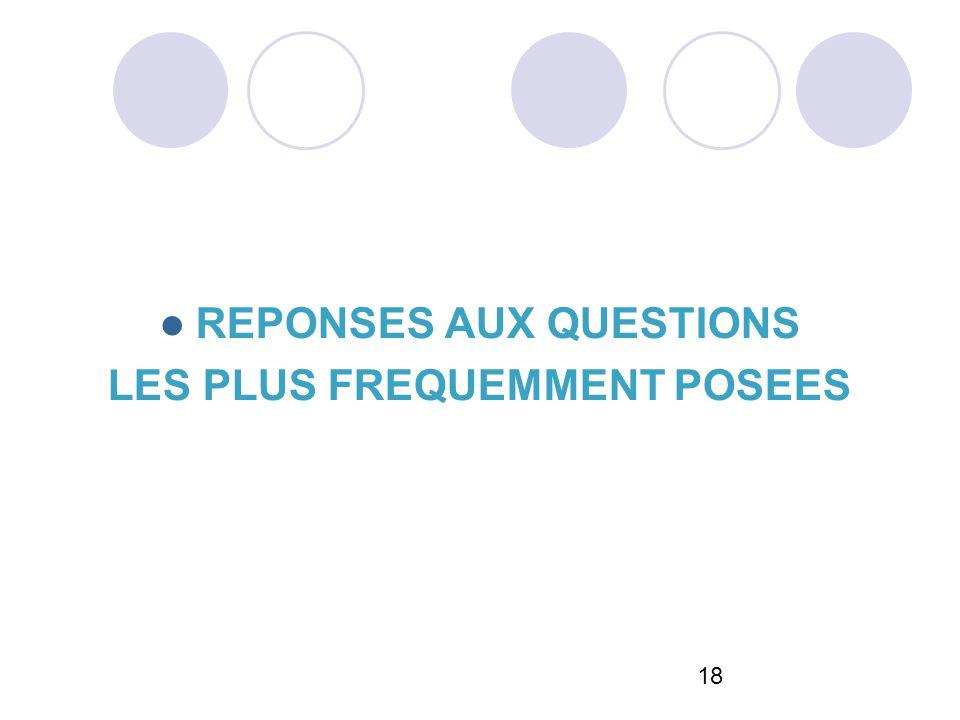 18 REPONSES AUX QUESTIONS LES PLUS FREQUEMMENT POSEES