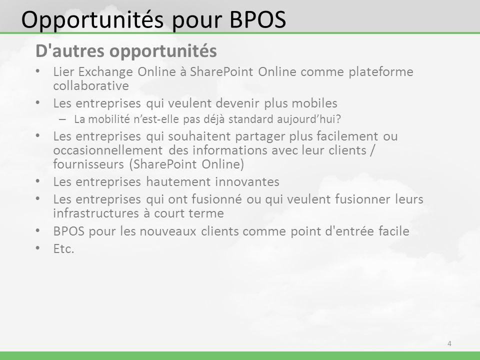D autres opportunités Lier Exchange Online à SharePoint Online comme plateforme collaborative Les entreprises qui veulent devenir plus mobiles – La mobilité nest-elle pas déjà standard aujourdhui.