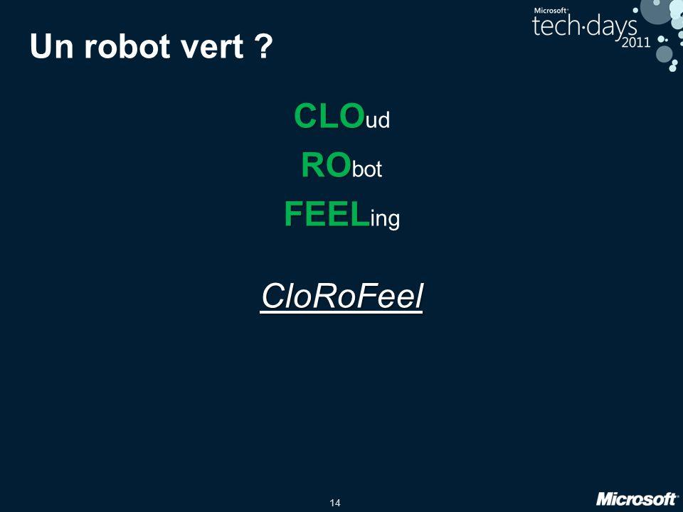 14 Un robot vert ? CLO CLO ud RO RO bot FEEL FEEL ingCloRoFeel