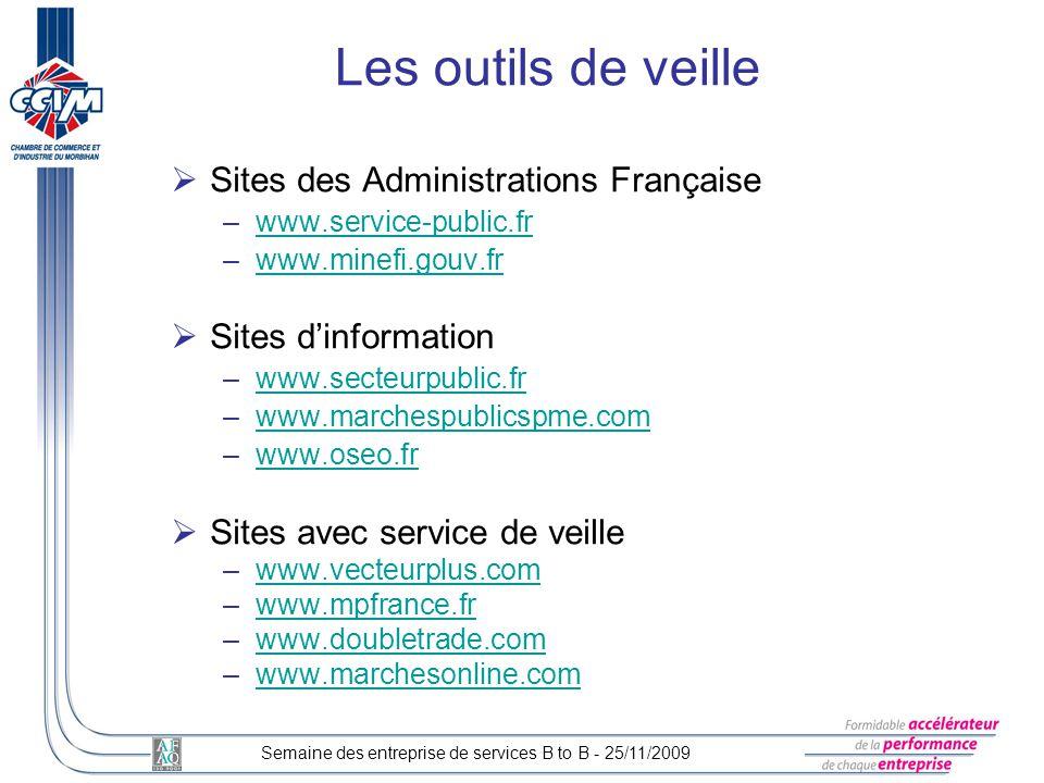 Sites des Administrations Française –www.service-public.frwww.service-public.fr –www.minefi.gouv.frwww.minefi.gouv.fr Sites dinformation –www.secteurp