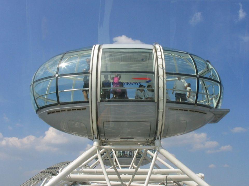 La roue porte 32 cabines de passagers ovoïdes, étanches et climatisée, rattachés à sa circonférence externe, chaque cabine représente un des arrondiss