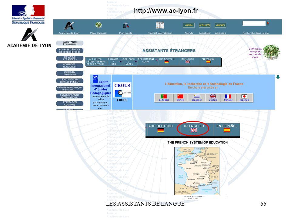 LES ASSISTANTS DE LANGUE66 http://www.ac-lyon.fr
