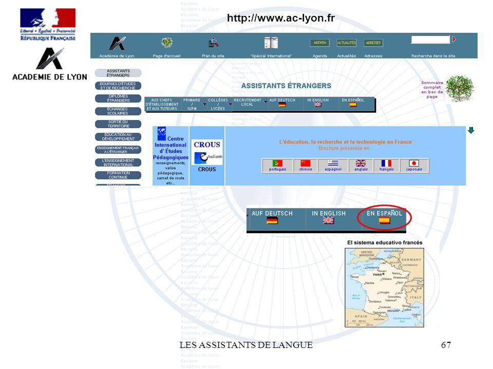 LES ASSISTANTS DE LANGUE67 http://www.ac-lyon.fr