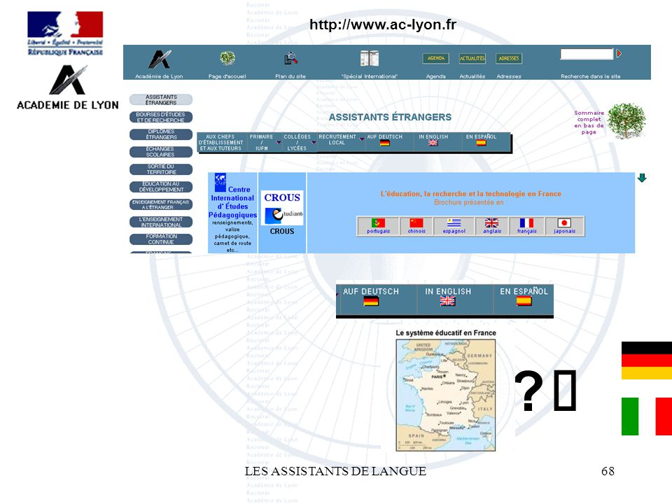LES ASSISTANTS DE LANGUE68 http://www.ac-lyon.fr ?