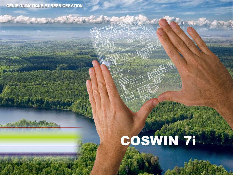 GÉNIE CLIMATIQUE ET RÉFRIGÉRATION COSWIN 7i