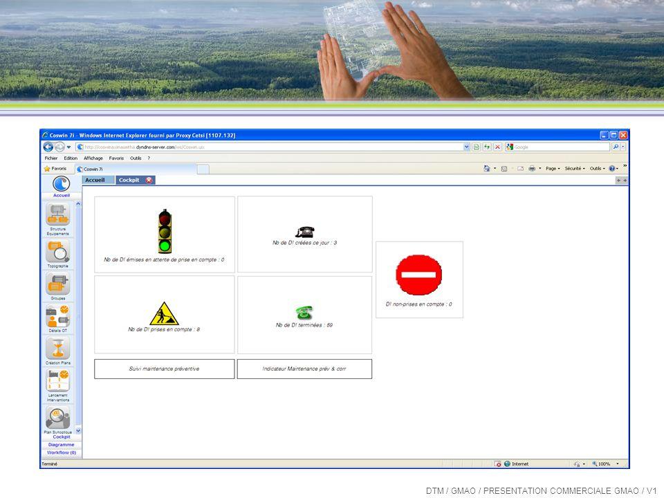 Les « plus » de COSWIN 7i Listes et écrans personnalisables DTM / GMAO / PRESENTATION COMMERCIALE GMAO / V1