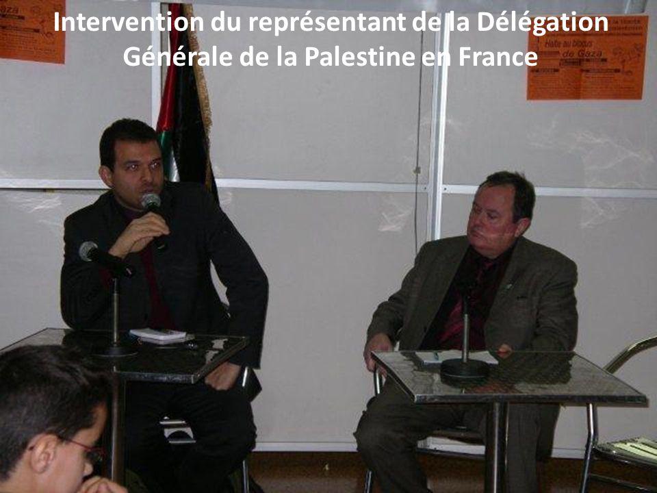 Intervention du représentant de la Délégation Générale de la Palestine en France
