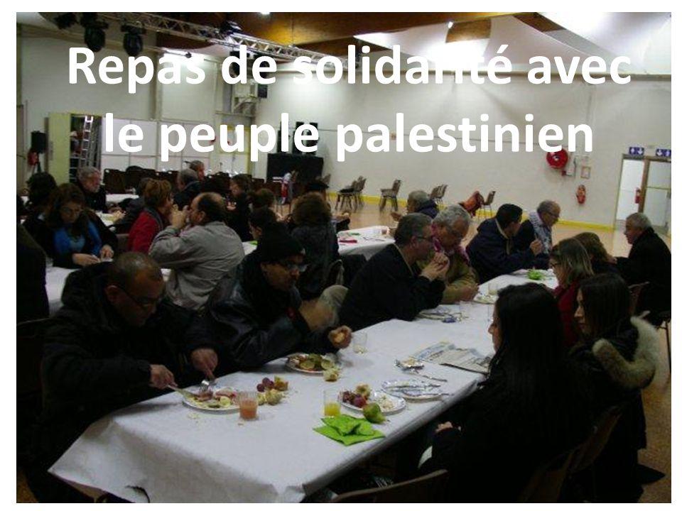 Repas de solidarité avec le peuple palestinien