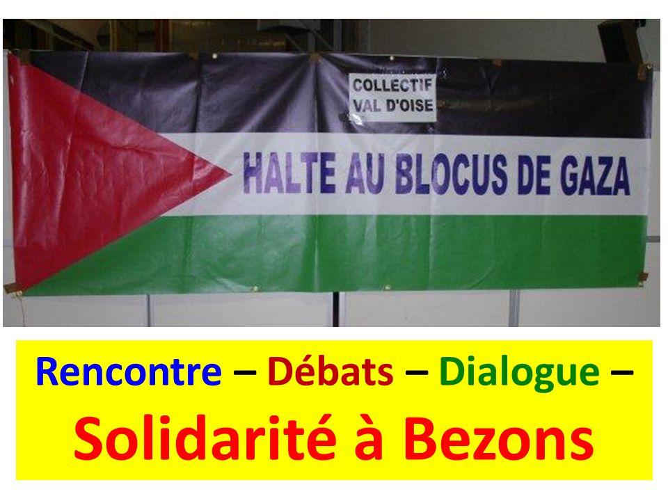 Rencontre – Débats – Dialogue – Solidarité à Bezons