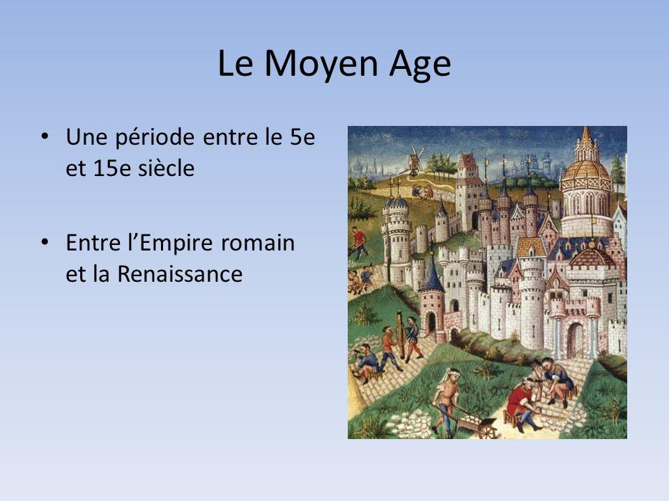 Une période entre le 5e et 15e siècle Entre lEmpire romain et la Renaissance