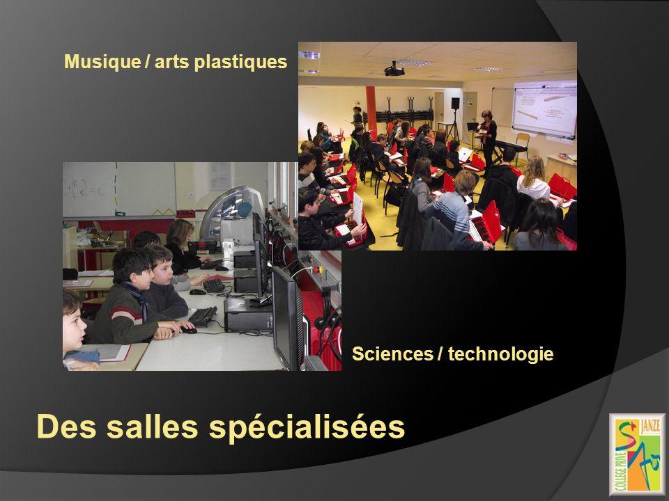 Des salles spécialisées Sciences / technologie Musique / arts plastiques