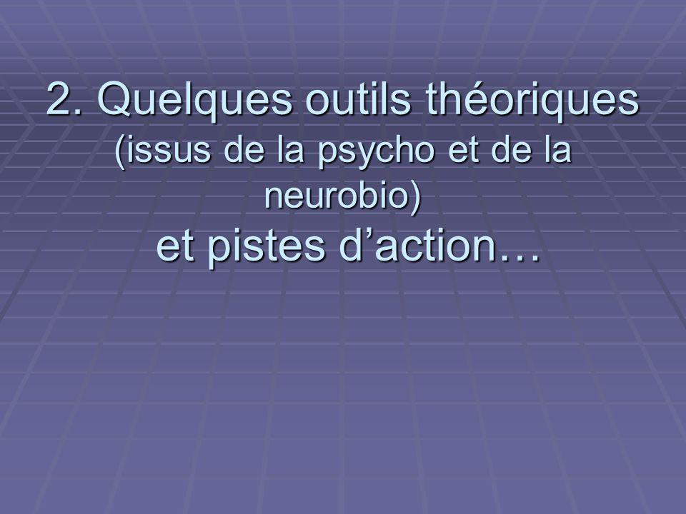 2. Quelques outils théoriques (issus de la psycho et de la neurobio) et pistes daction…
