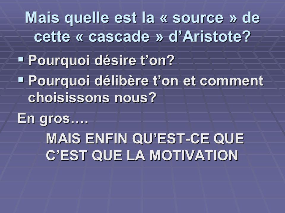 Mais quelle est la « source » de cette « cascade » dAristote.