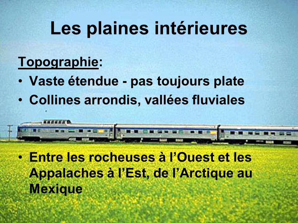La vallée des Grands lacs et du Saint-Laurent Climat: Climat continental humide à cause des Grands lacs, les hivers sont de frais à froid, et les étés