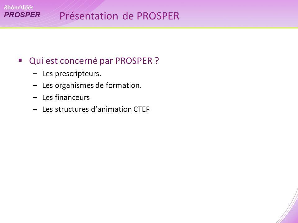 Présentation de PROSPER Qui est concerné par PROSPER .