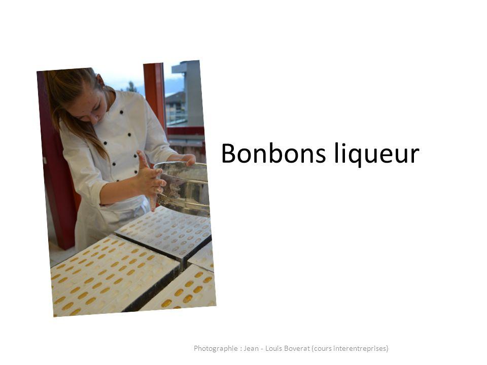 Bonbons liqueur Photographie : Jean - Louis Boverat (cours interentreprises)