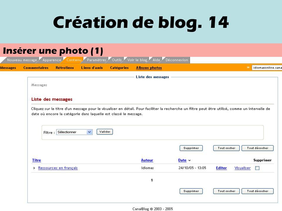 Création de blog.13 Sélection de contenus