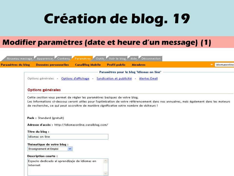 Création de blog. 18 Voir les photos
